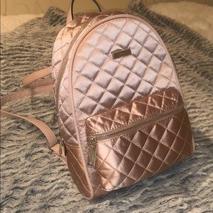 Aldo Pink Quilted Satin Backpack